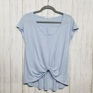 {Anthropologie} Pure + Good light blue Knotted tee